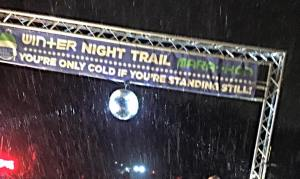 Finish Line at the Winter Trail Marathon